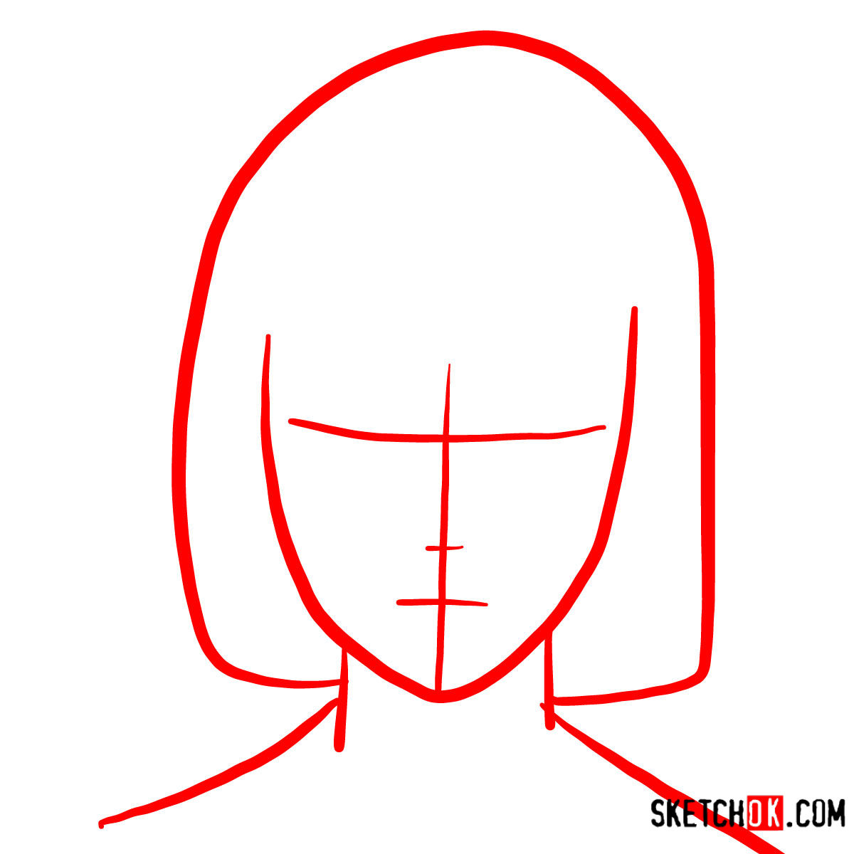 How to draw Akira Mado's face   Tokyo Ghoul - step 01