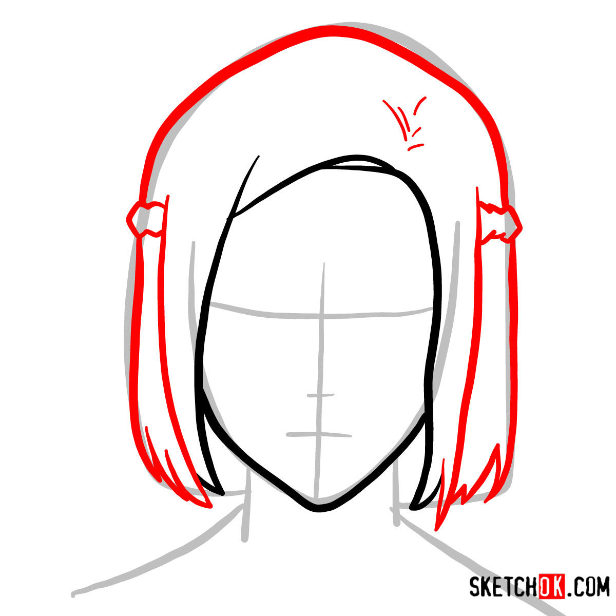 How to draw Akira Mado's face   Tokyo Ghoul - step 03