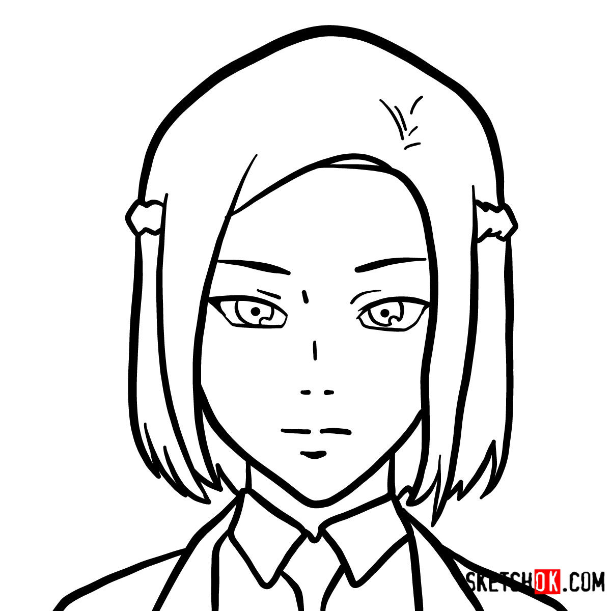 How to draw Akira Mado's face | Tokyo Ghoul