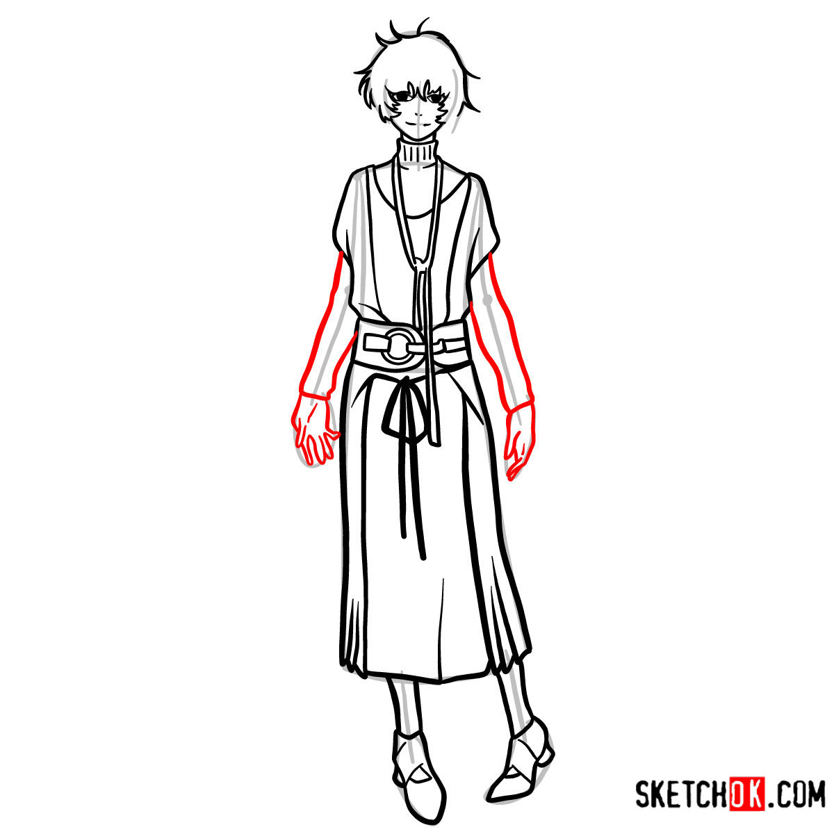 How to draw Eto Yoshimura full growth | Tokyo Ghoul - step 11