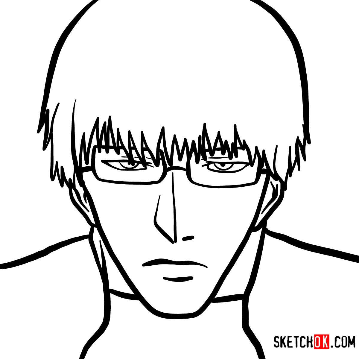 How to draw Kishou Arima | Tokyo Ghoul
