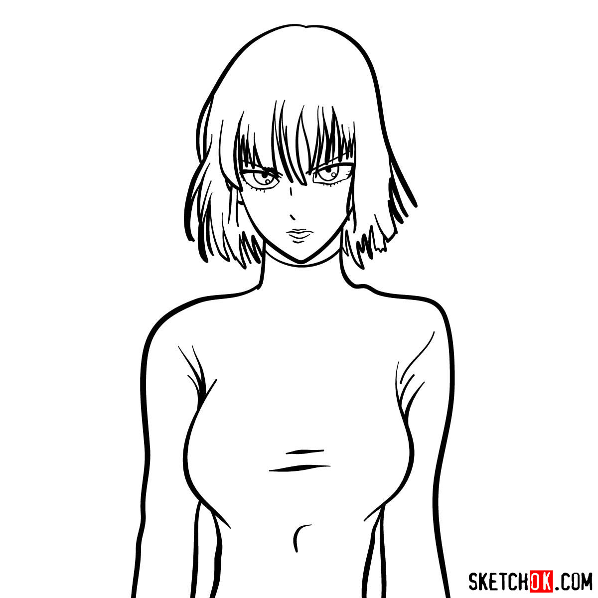 How to draw Fubuki | One-Punch Man