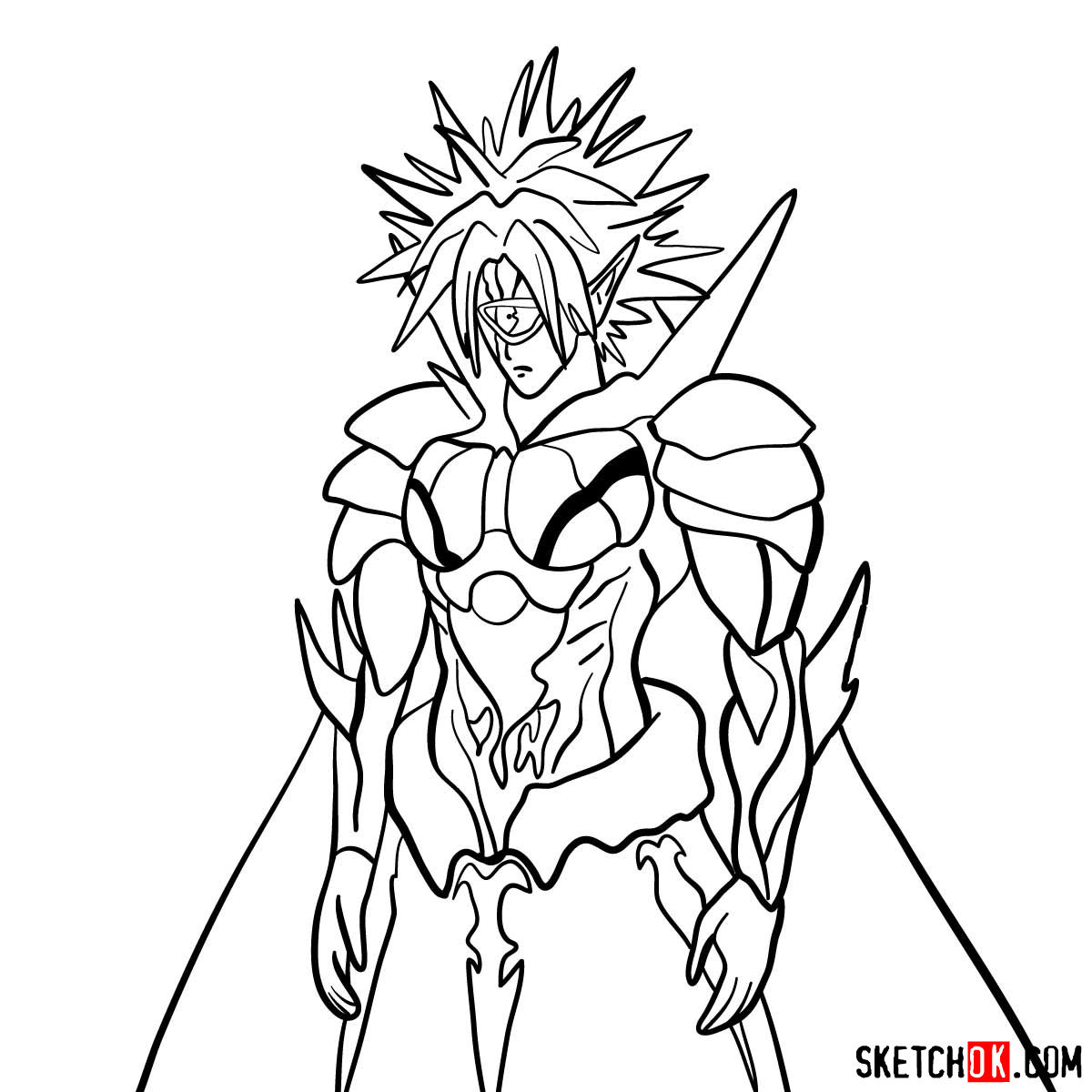 How to draw Boros | One-Punch Man