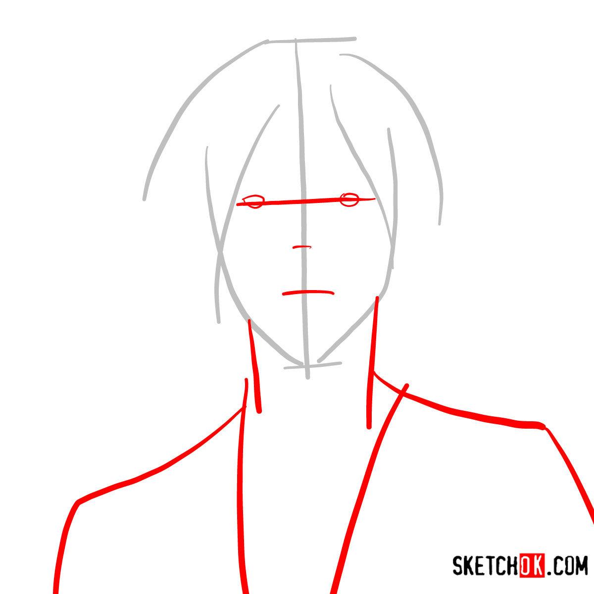 How to draw Nobuchika Ginoza | Psycho Pass - step 02