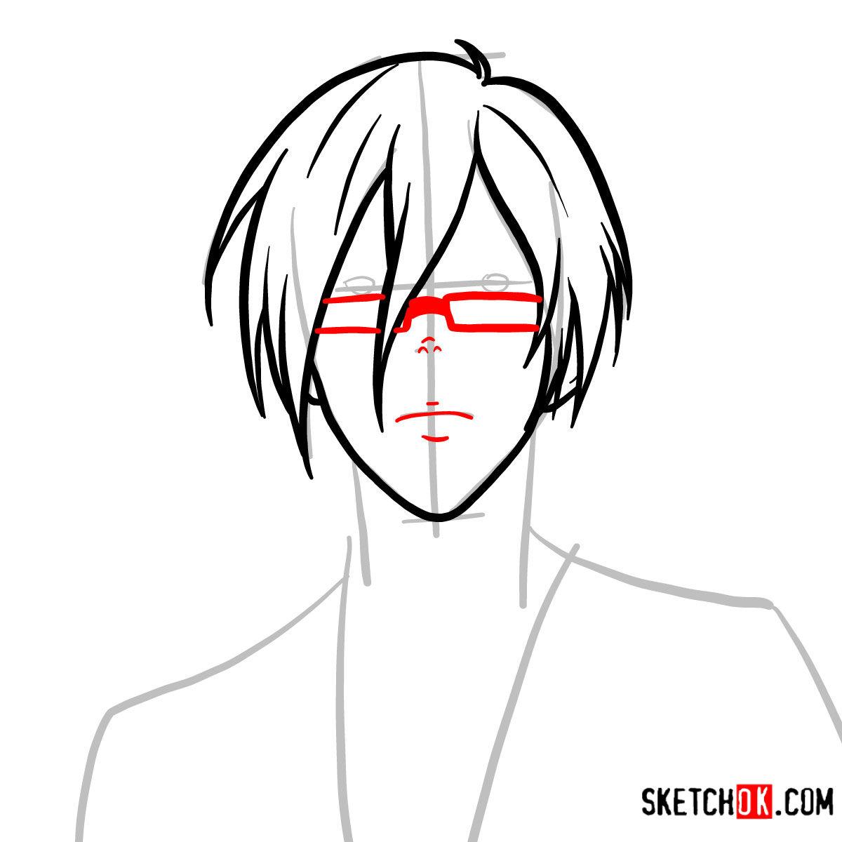 How to draw Nobuchika Ginoza | Psycho Pass - step 05