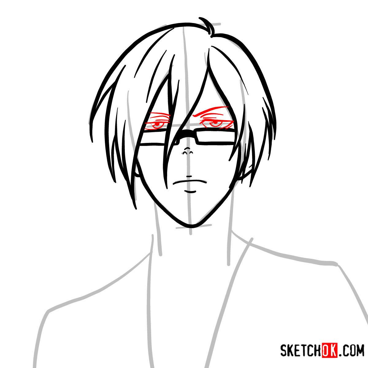 How to draw Nobuchika Ginoza | Psycho Pass - step 06