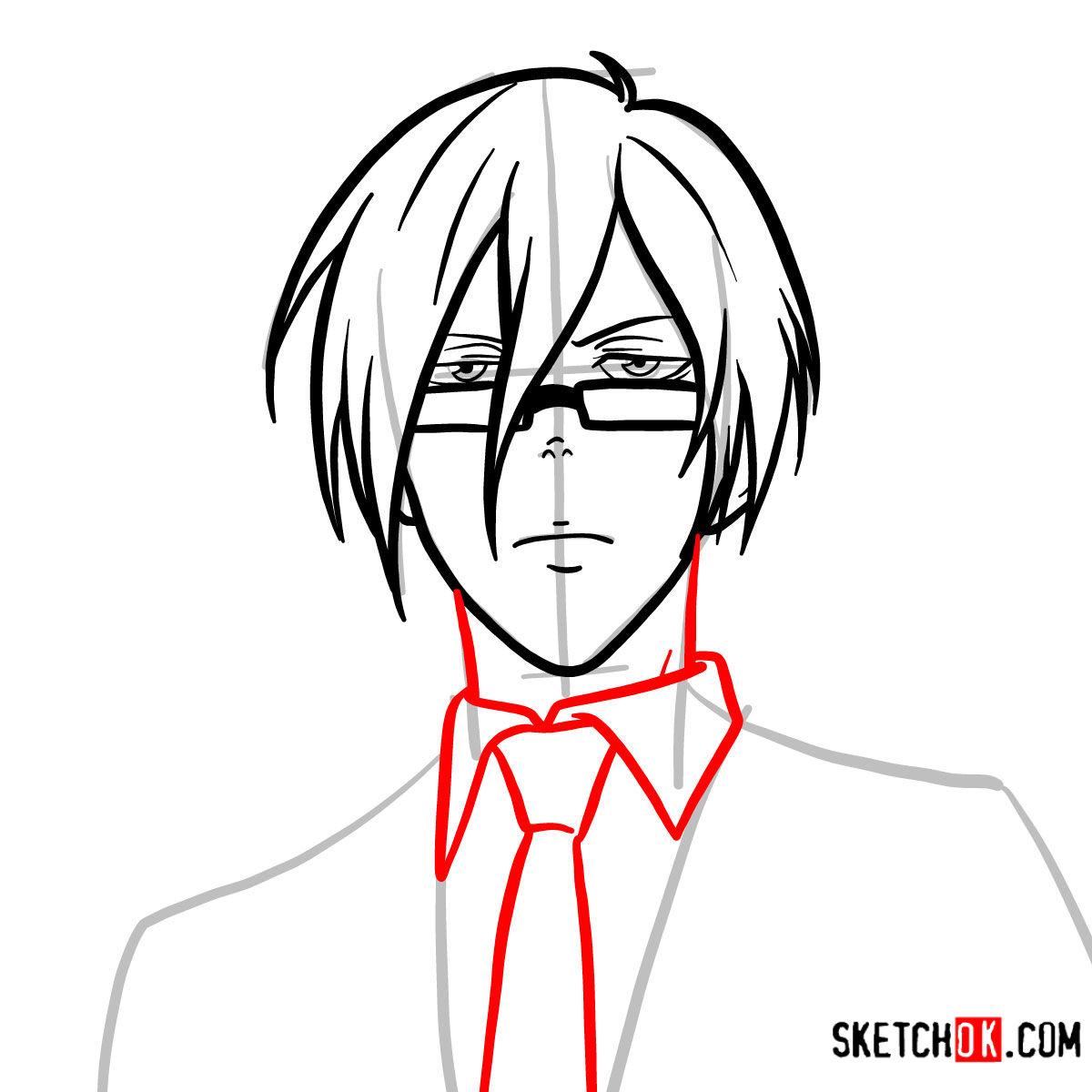 How to draw Nobuchika Ginoza | Psycho Pass - step 07
