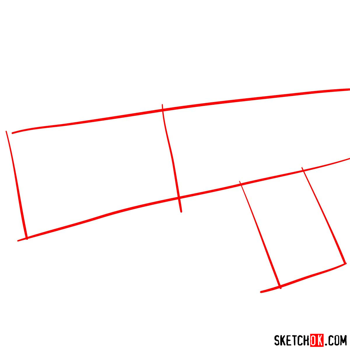 How to draw The Dominator gun | Psycho Pass - step 01