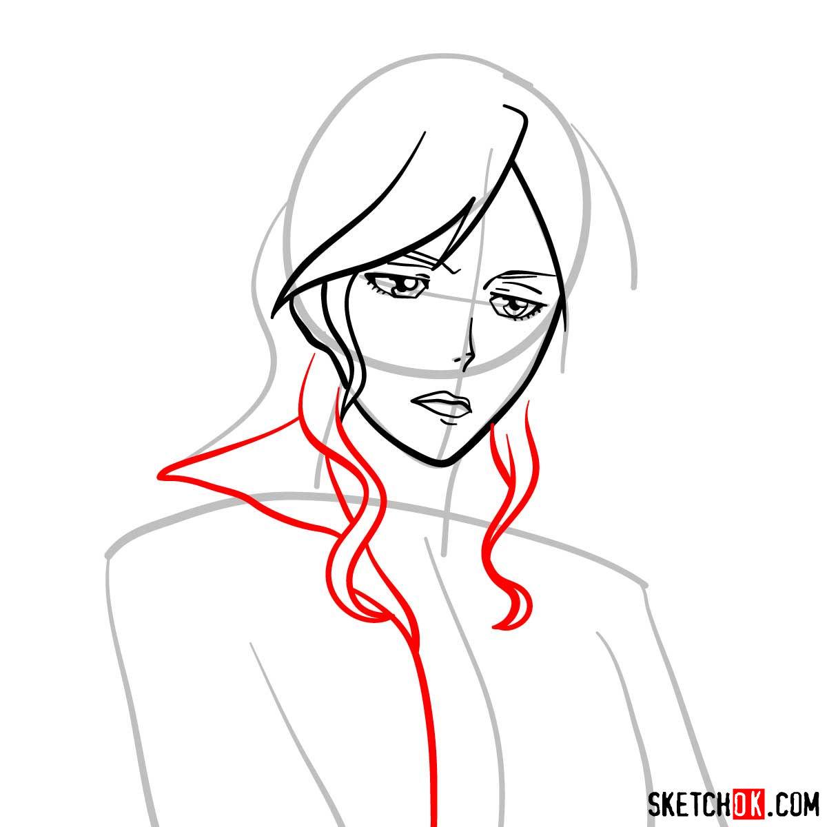 How to draw Shion Karanomori | Psycho Pass - step 05