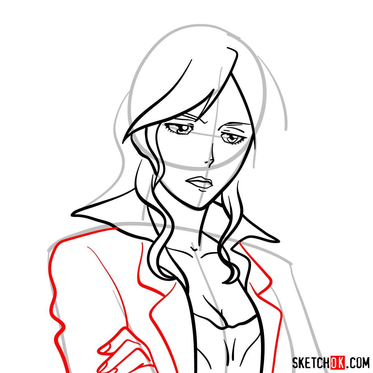 How to draw Shion Karanomori | Psycho Pass - step 07