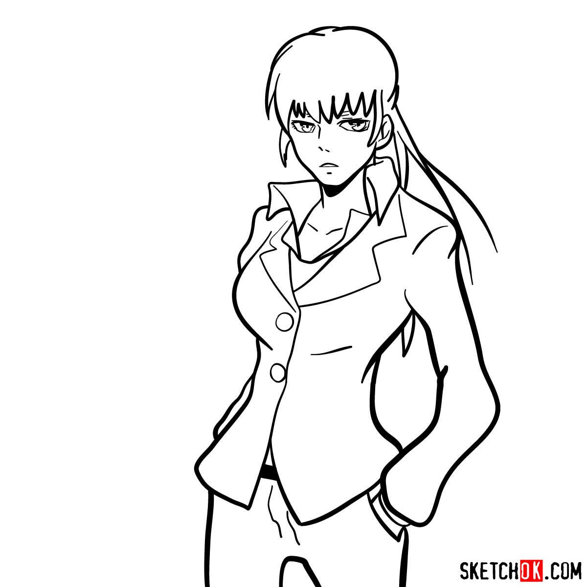How to draw Yayoi Kunizuka | Psycho Pass