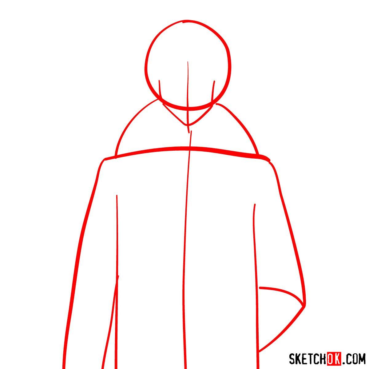 How to draw Kirito Kamui | Psycho Pass - step 01