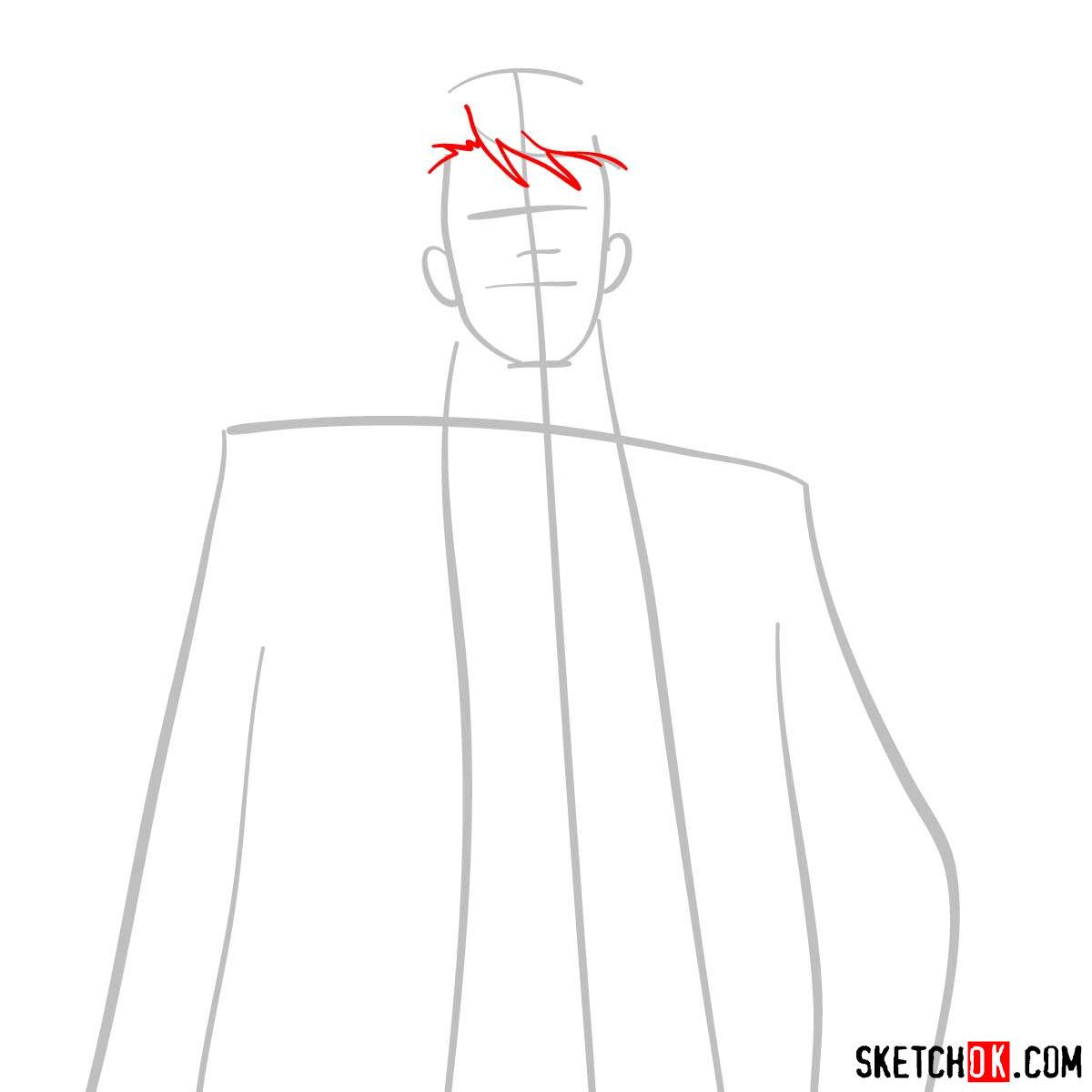 How to draw Tomomi Masaoka | Psycho Pass - step 03