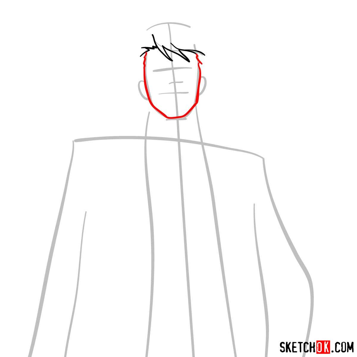 How to draw Tomomi Masaoka | Psycho Pass - step 04