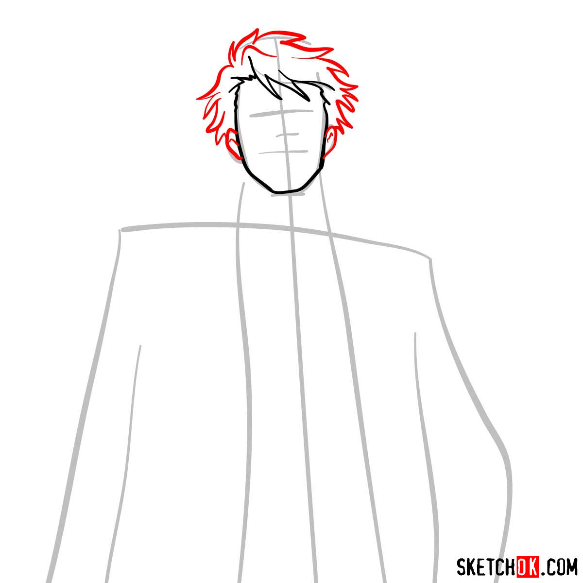 How to draw Tomomi Masaoka | Psycho Pass - step 05