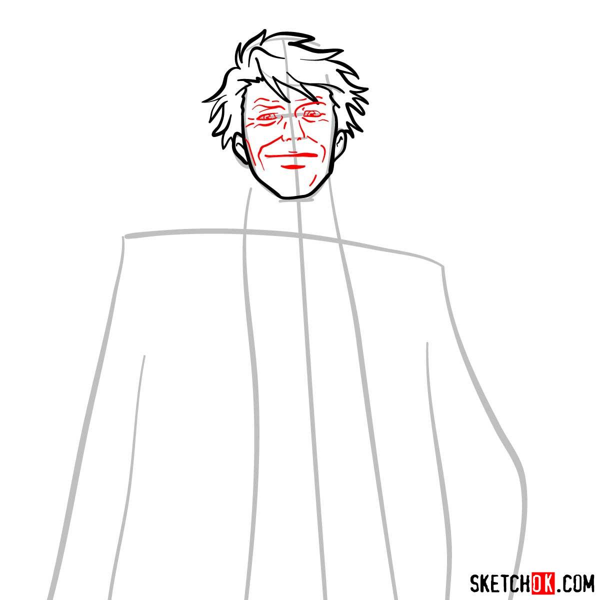 How to draw Tomomi Masaoka | Psycho Pass - step 06