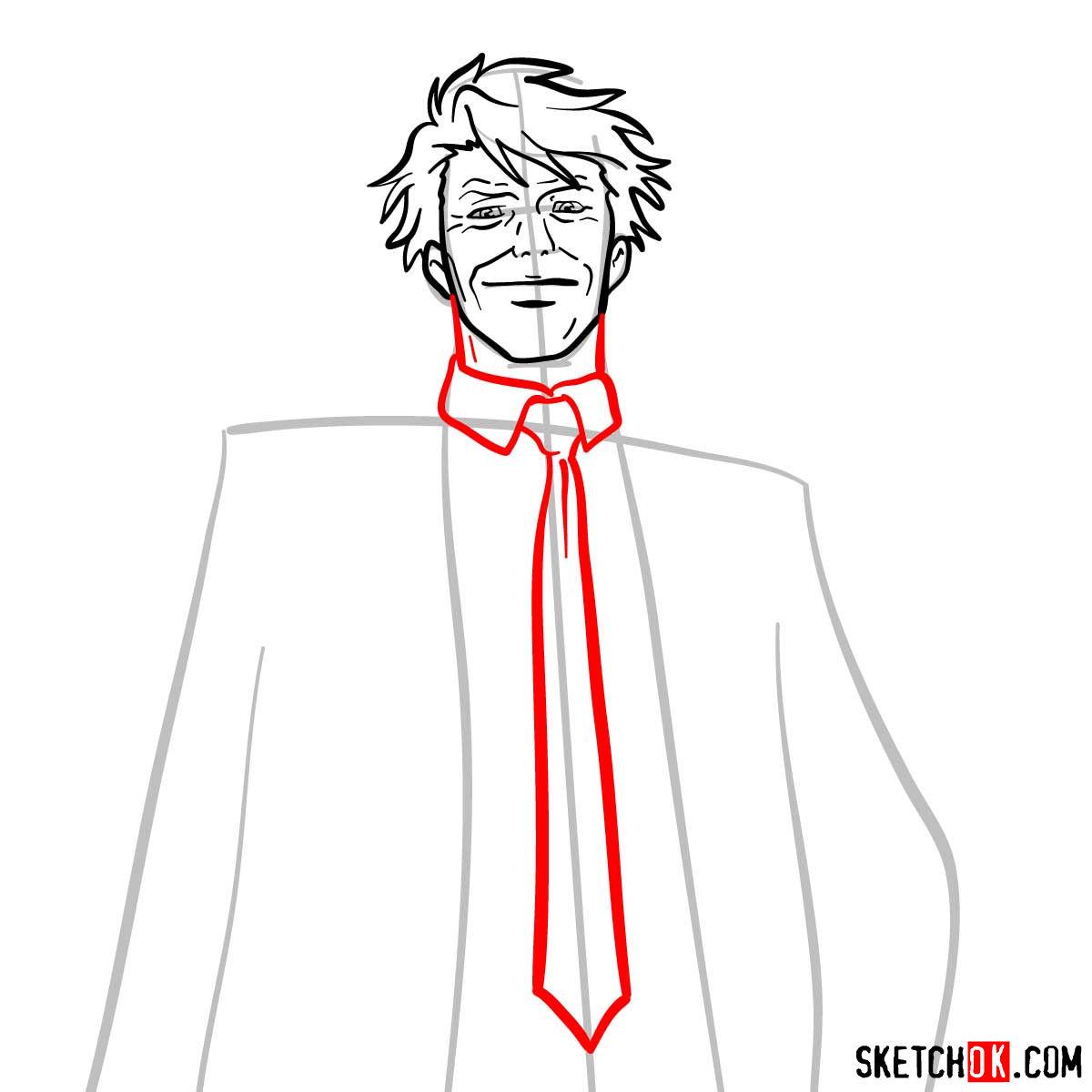 How to draw Tomomi Masaoka | Psycho Pass - step 07