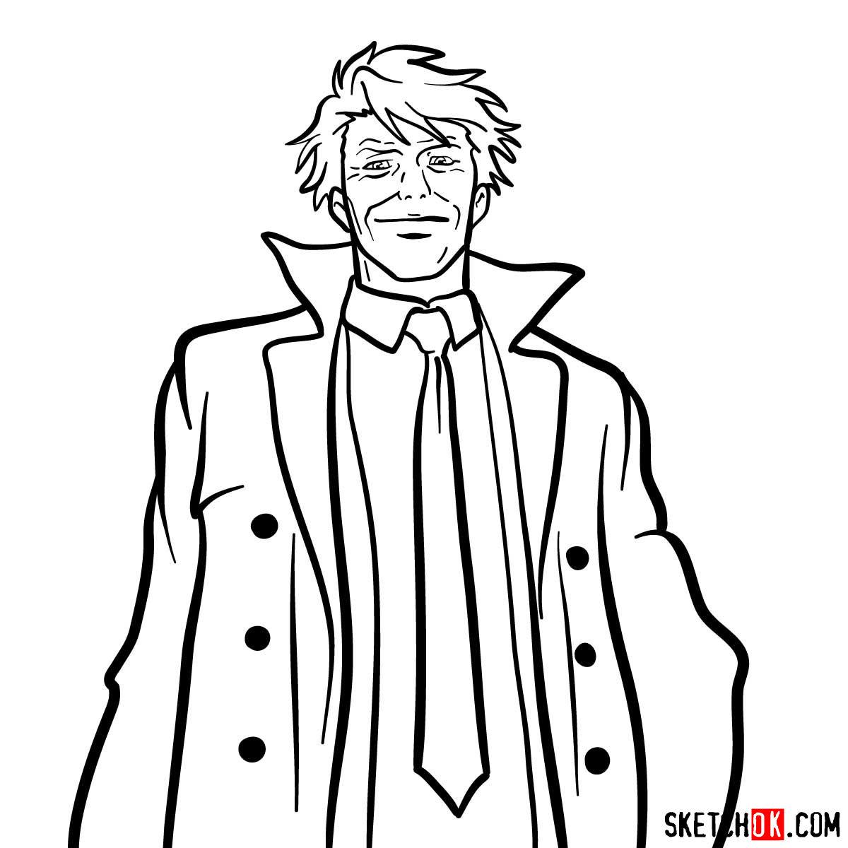 How to draw Tomomi Masaoka | Psycho Pass