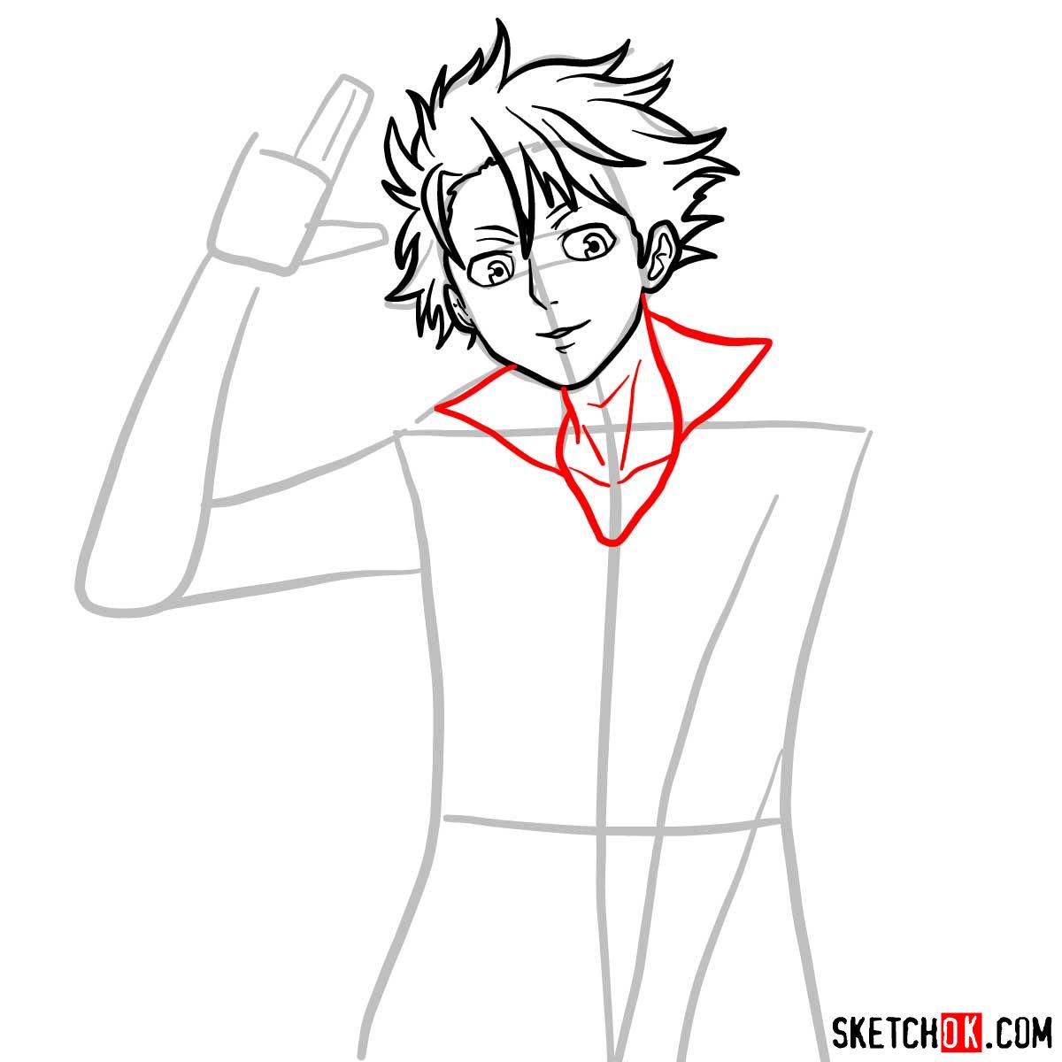 How to draw Shusei Kagari | Psycho Pass - step 07