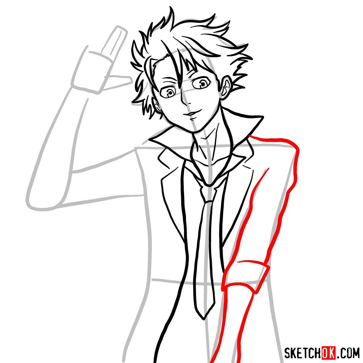 How to draw Shusei Kagari | Psycho Pass - step 09