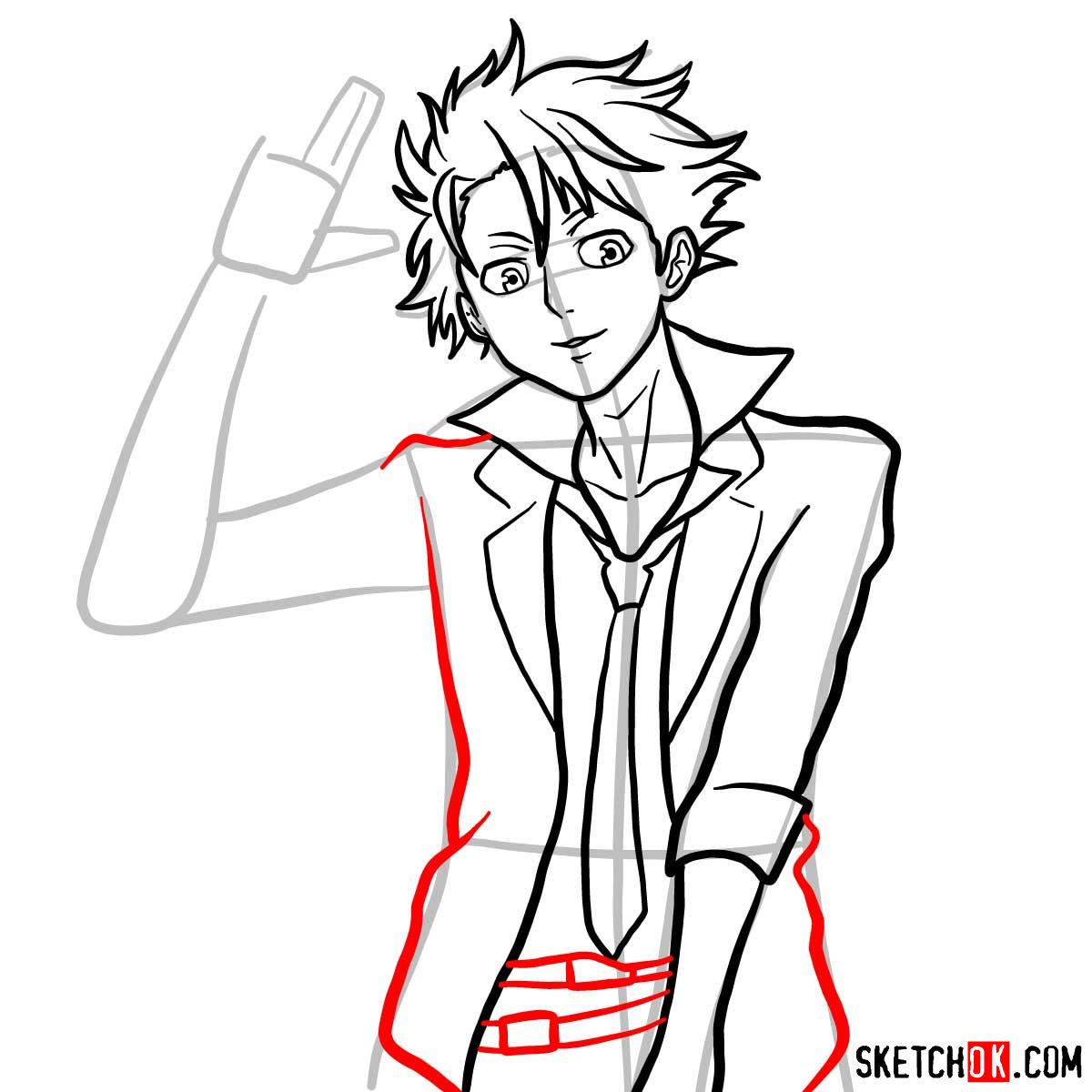 How to draw Shusei Kagari | Psycho Pass - step 10
