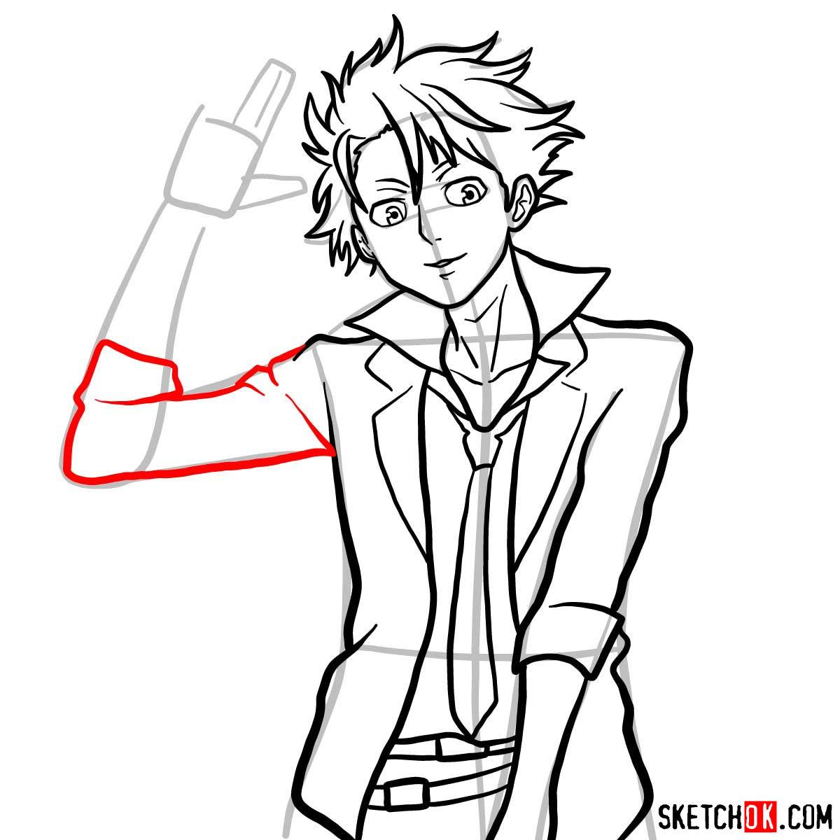 How to draw Shusei Kagari | Psycho Pass - step 11