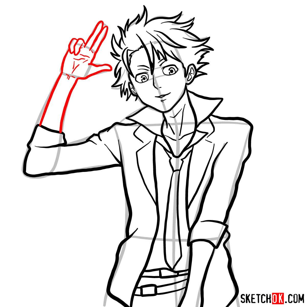 How to draw Shusei Kagari | Psycho Pass - step 12