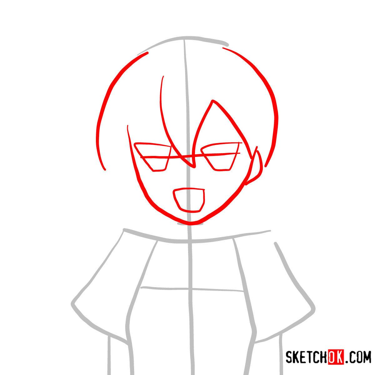 How to draw Mine   Akame Ga Kill - step 02