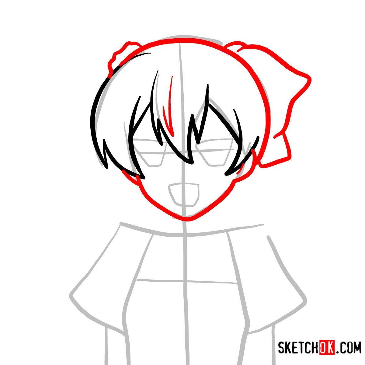 How to draw Mine   Akame Ga Kill - step 04