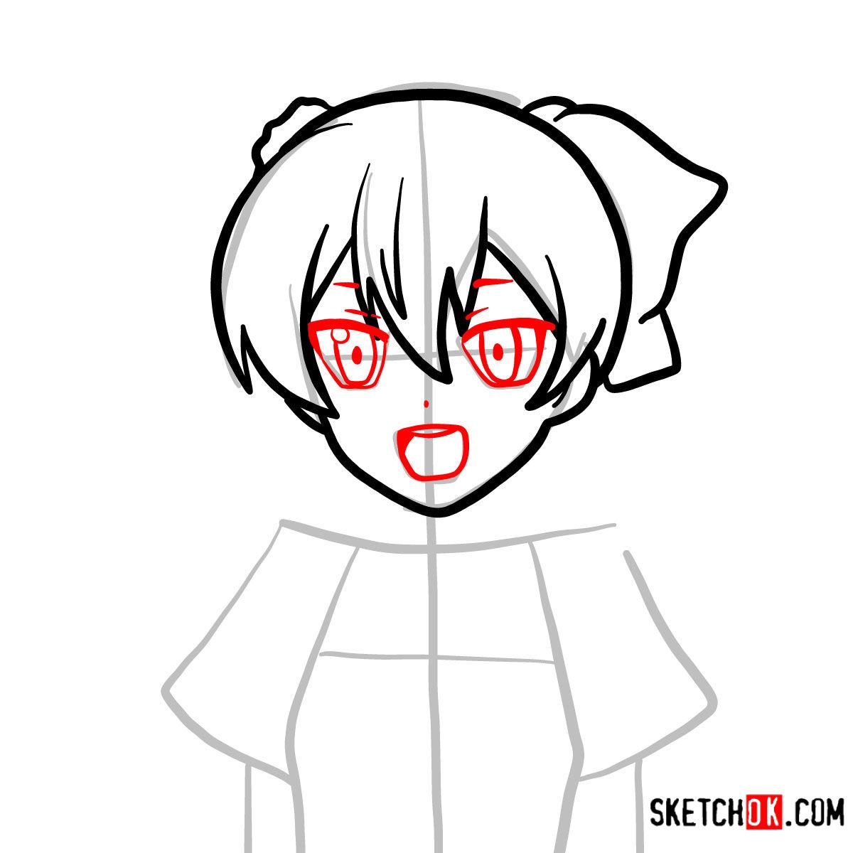 How to draw Mine   Akame Ga Kill - step 05