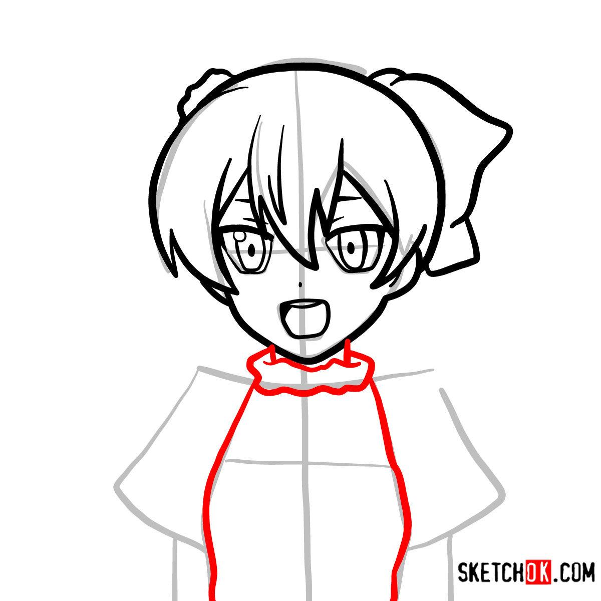 How to draw Mine   Akame Ga Kill - step 06