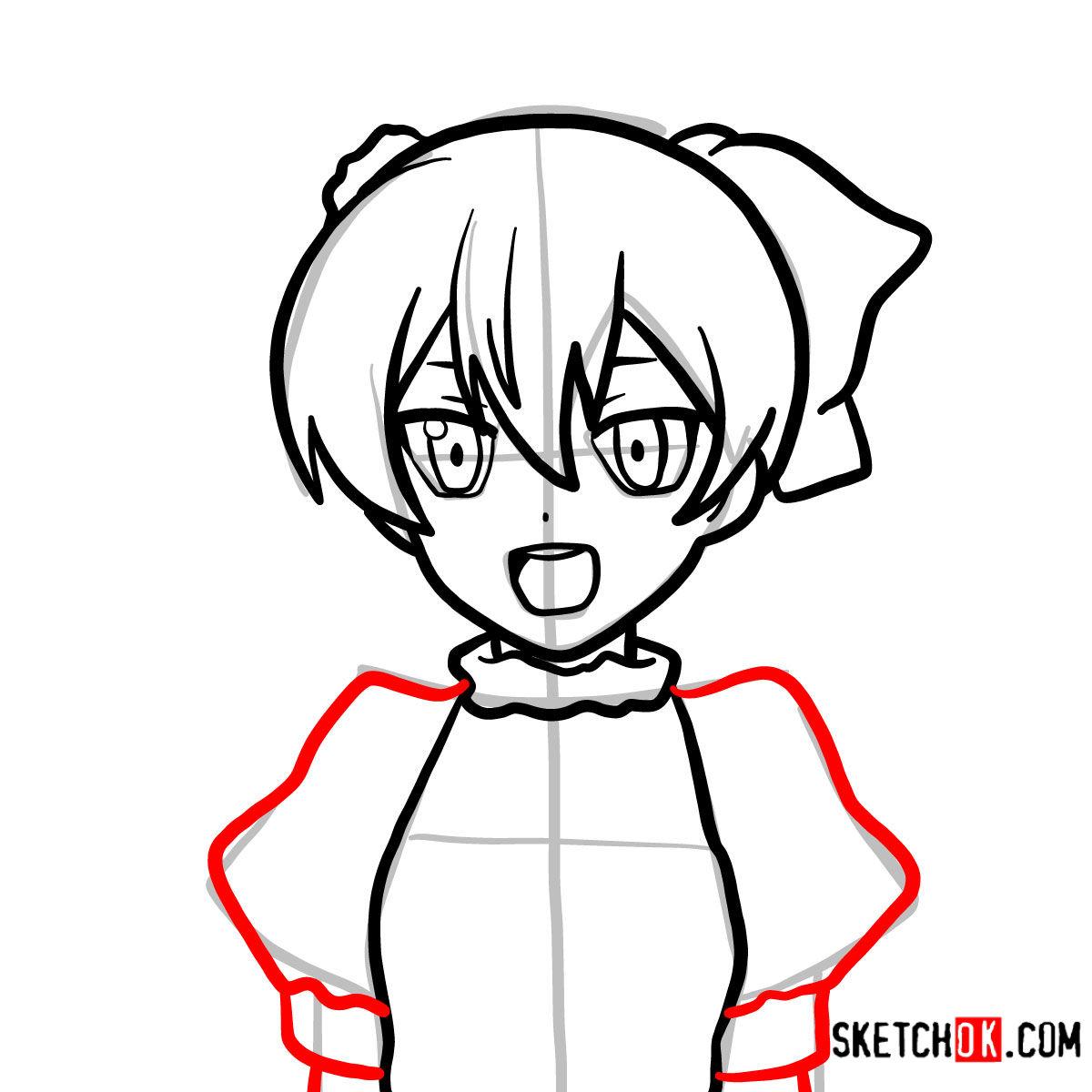 How to draw Mine   Akame Ga Kill - step 07