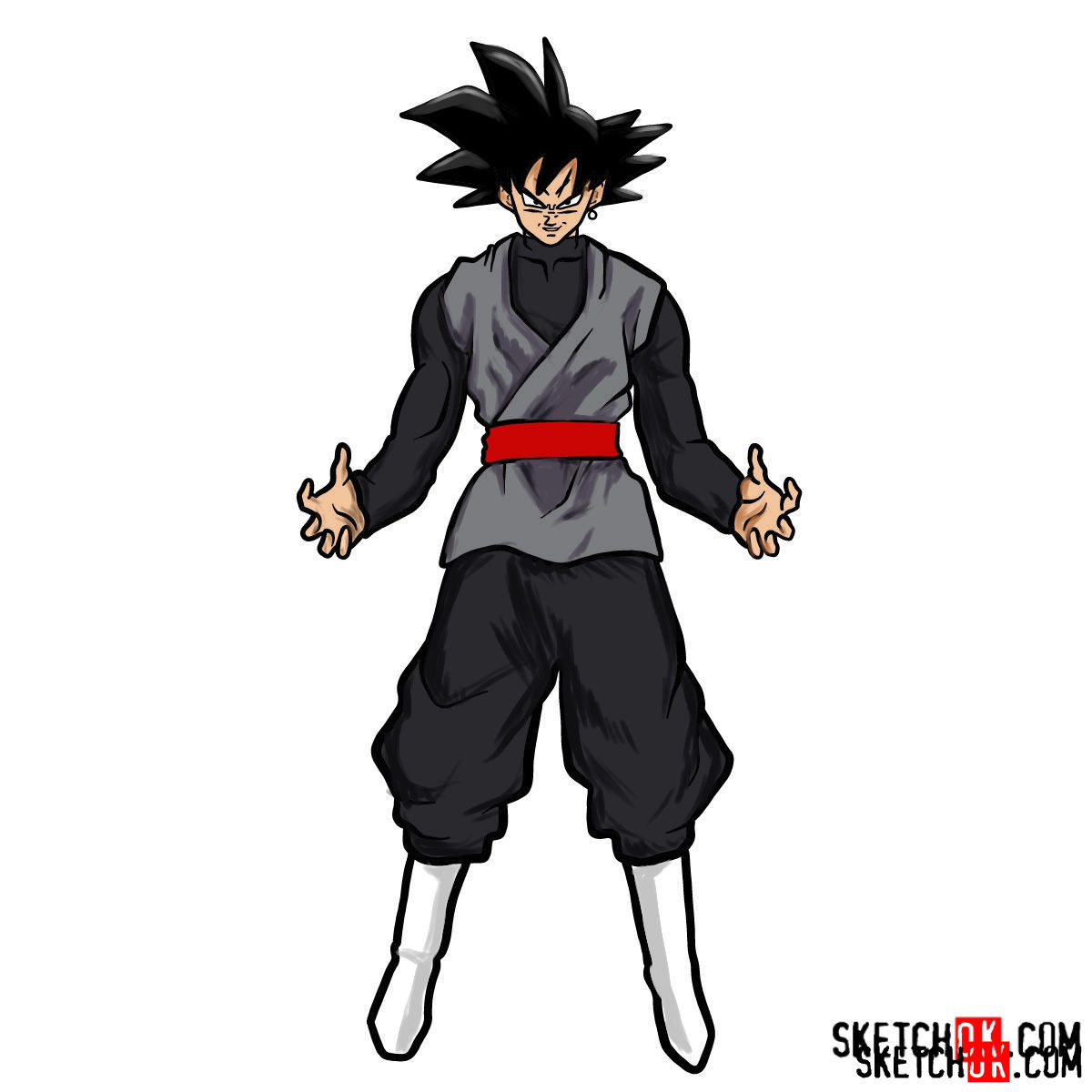 How to draw Goku Black | Dragon Ball anime