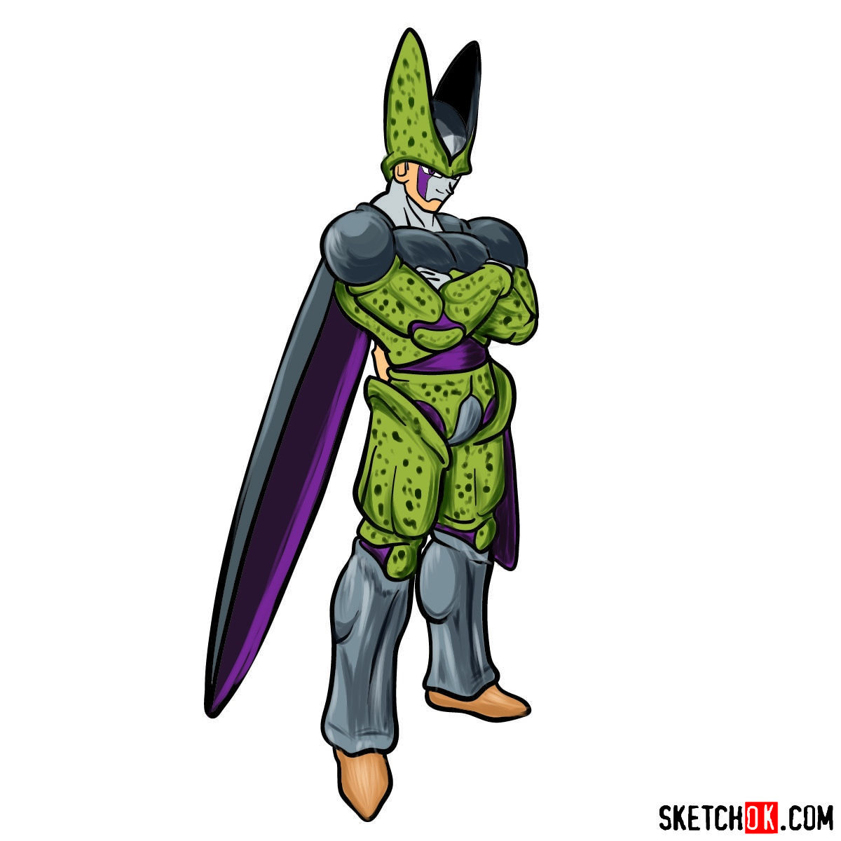 How to draw Cell | Dragon Ball anime