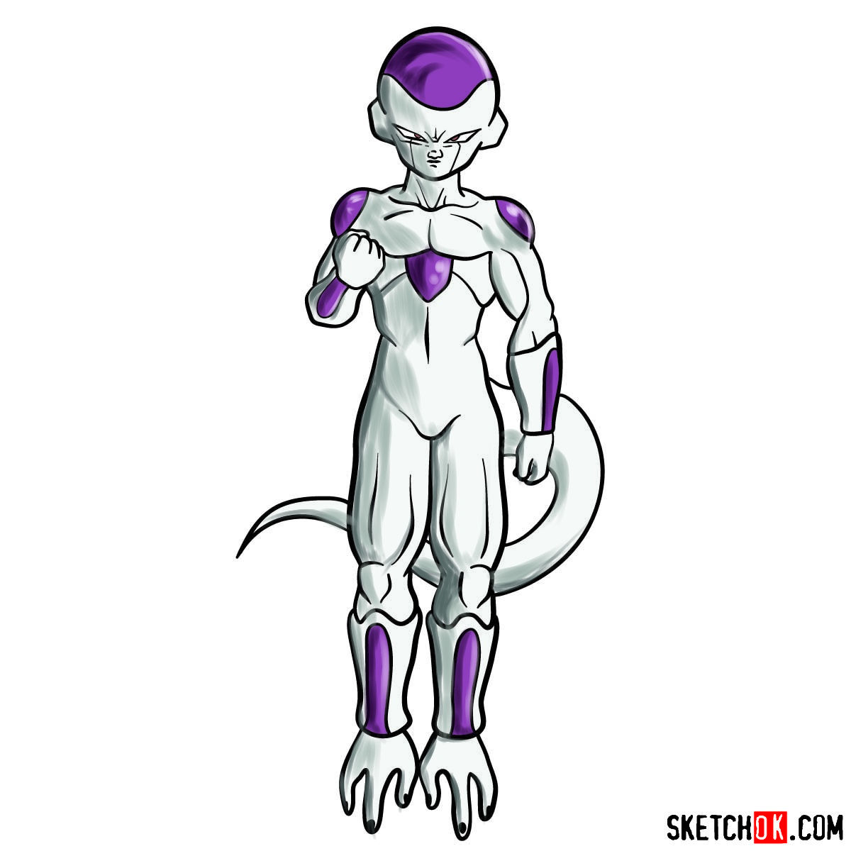 How to draw Frieza | Dragon Ball anime