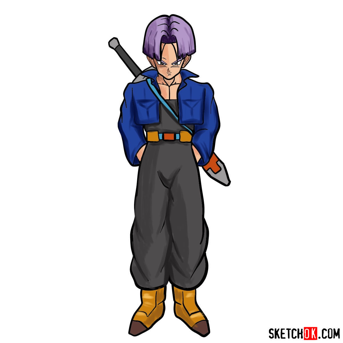 How to draw Trunks | Dragon Ball anime