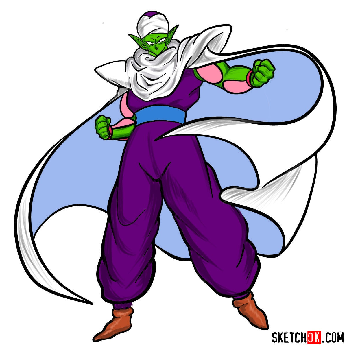 How to draw Piccolo | Dragon Ball anime