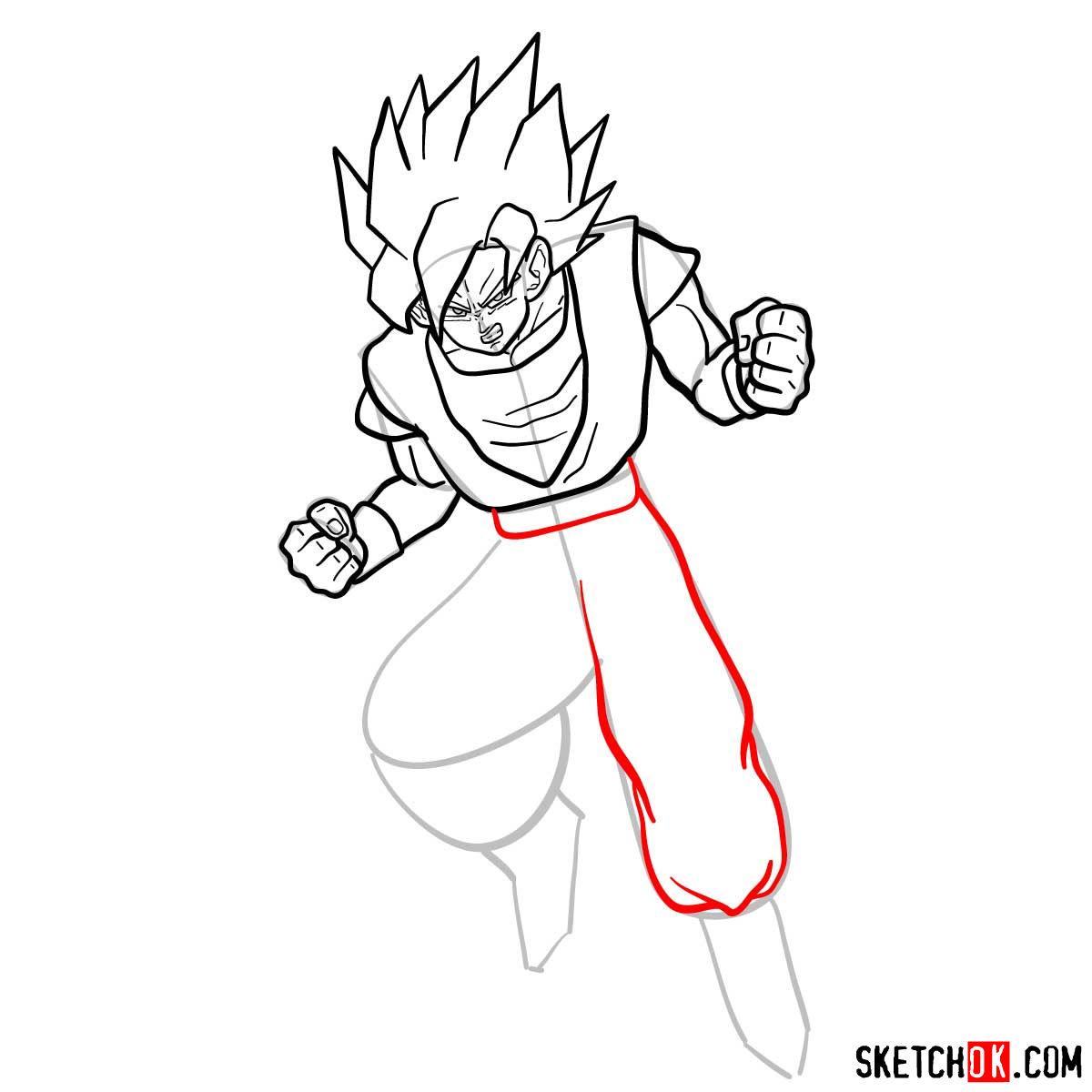 How to draw Gohan | Dragon Ball anime - step 10
