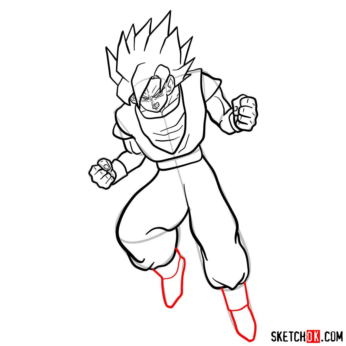 How to draw Gohan | Dragon Ball anime - step 12