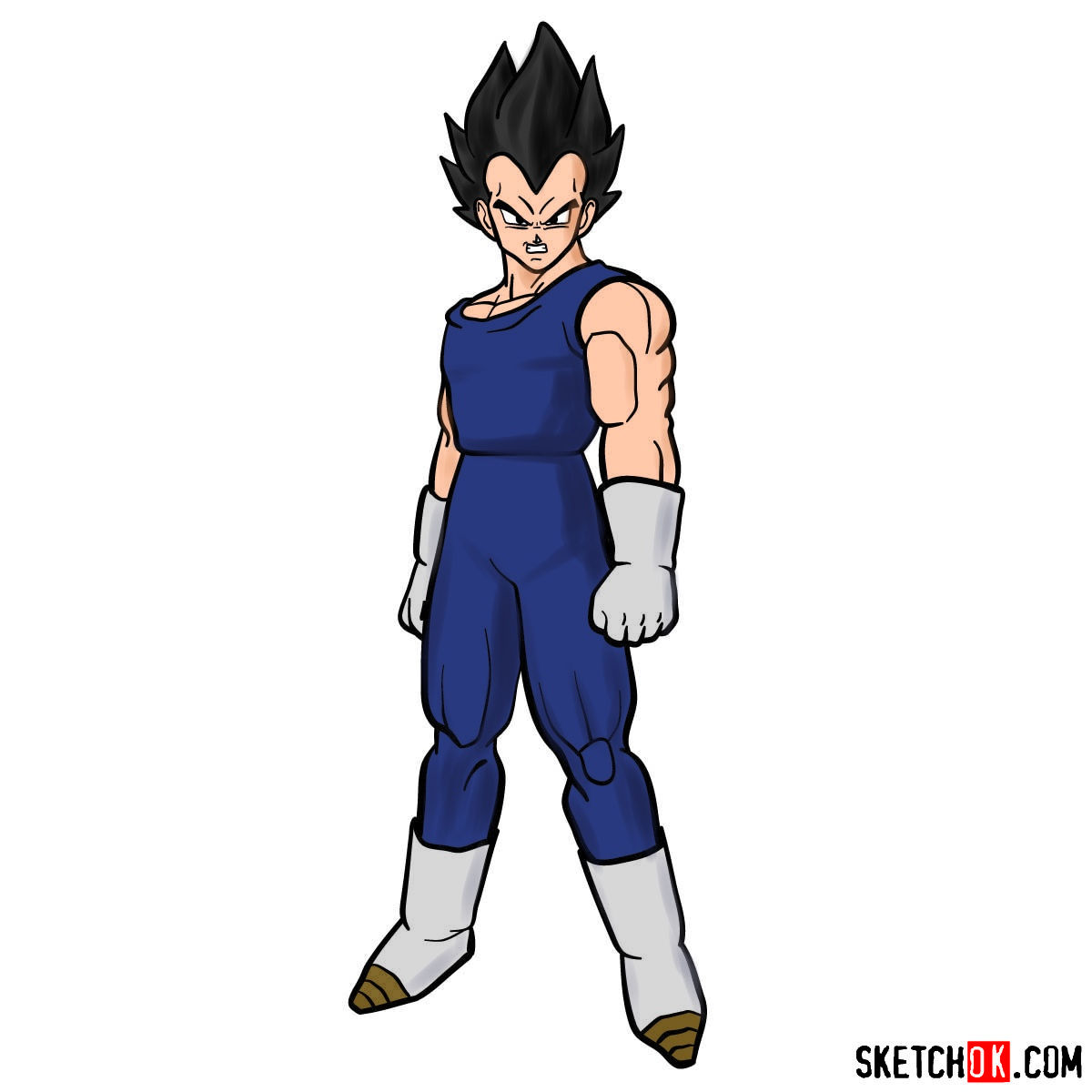 How to draw Vegeta | Dragon Ball anime