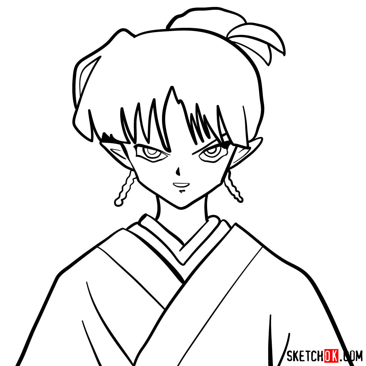 How to draw Kagura | Inuyasha - coloring