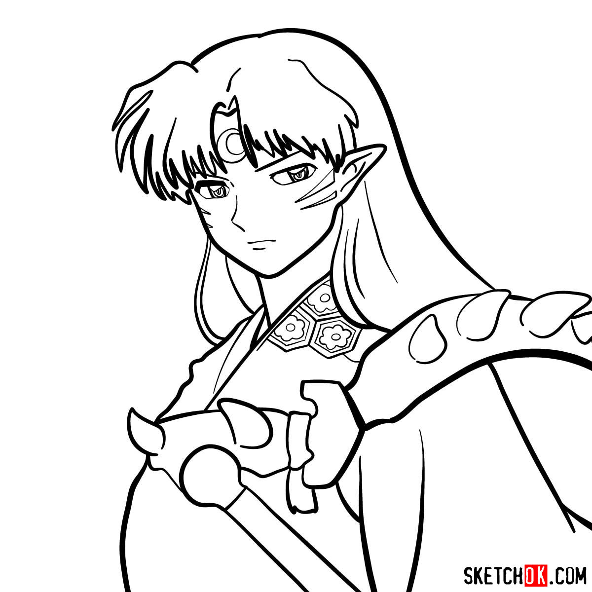 How to draw Sesshomaru | Inuyasha