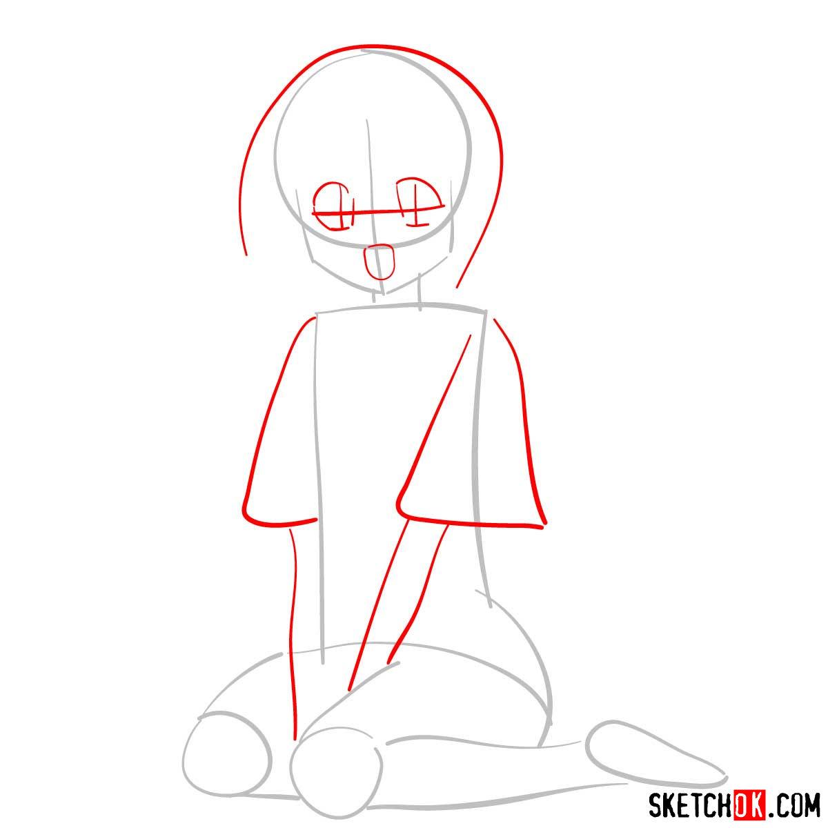 How to draw Makimachi Misao | Rurouni Kenshin - step 02