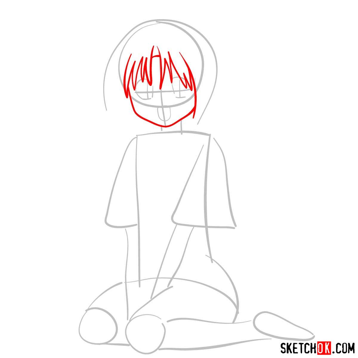 How to draw Makimachi Misao | Rurouni Kenshin - step 03