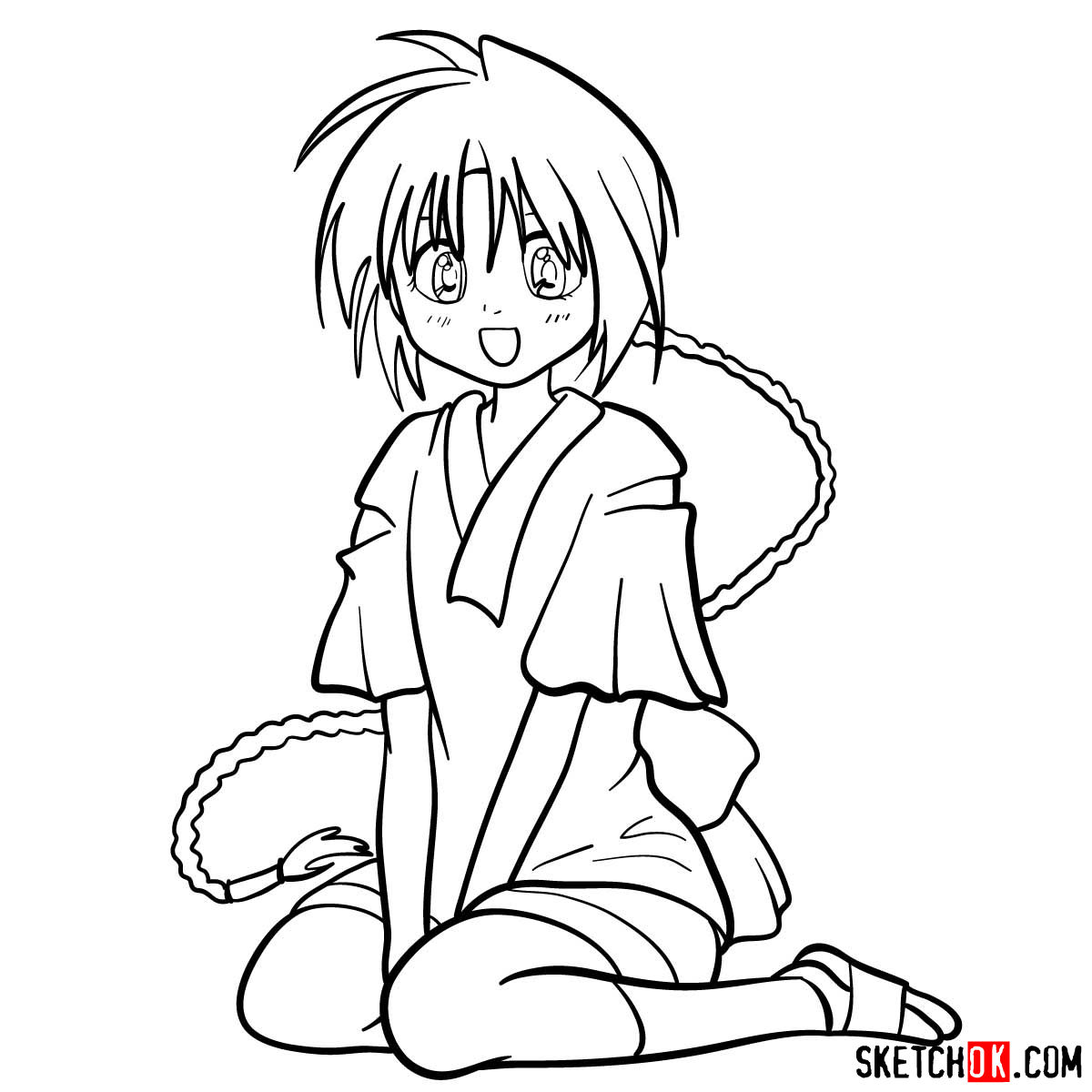 How to draw Makimachi Misao | Rurouni Kenshin