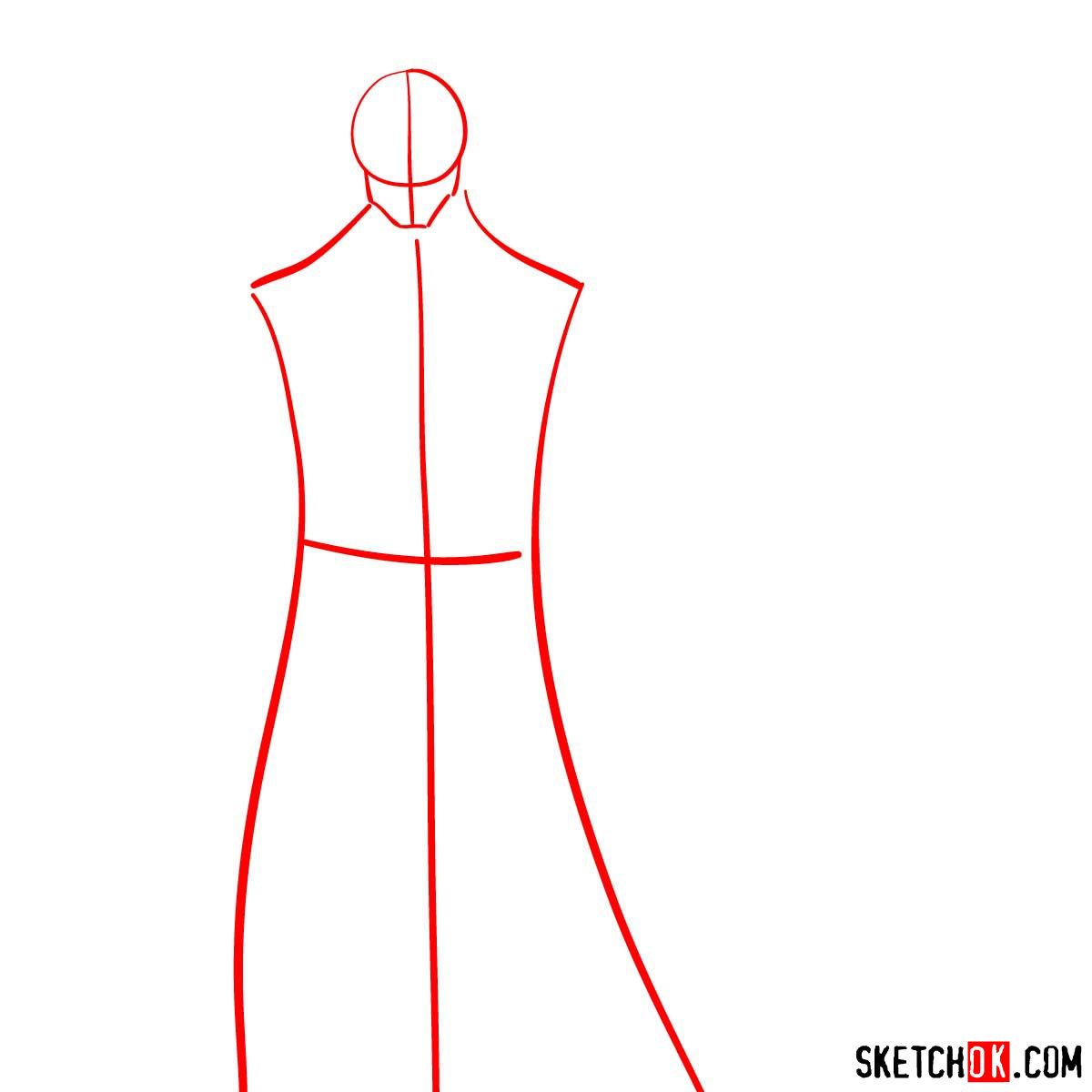 How to draw Shishio Makoto | Rurouni Kenshin - step 01
