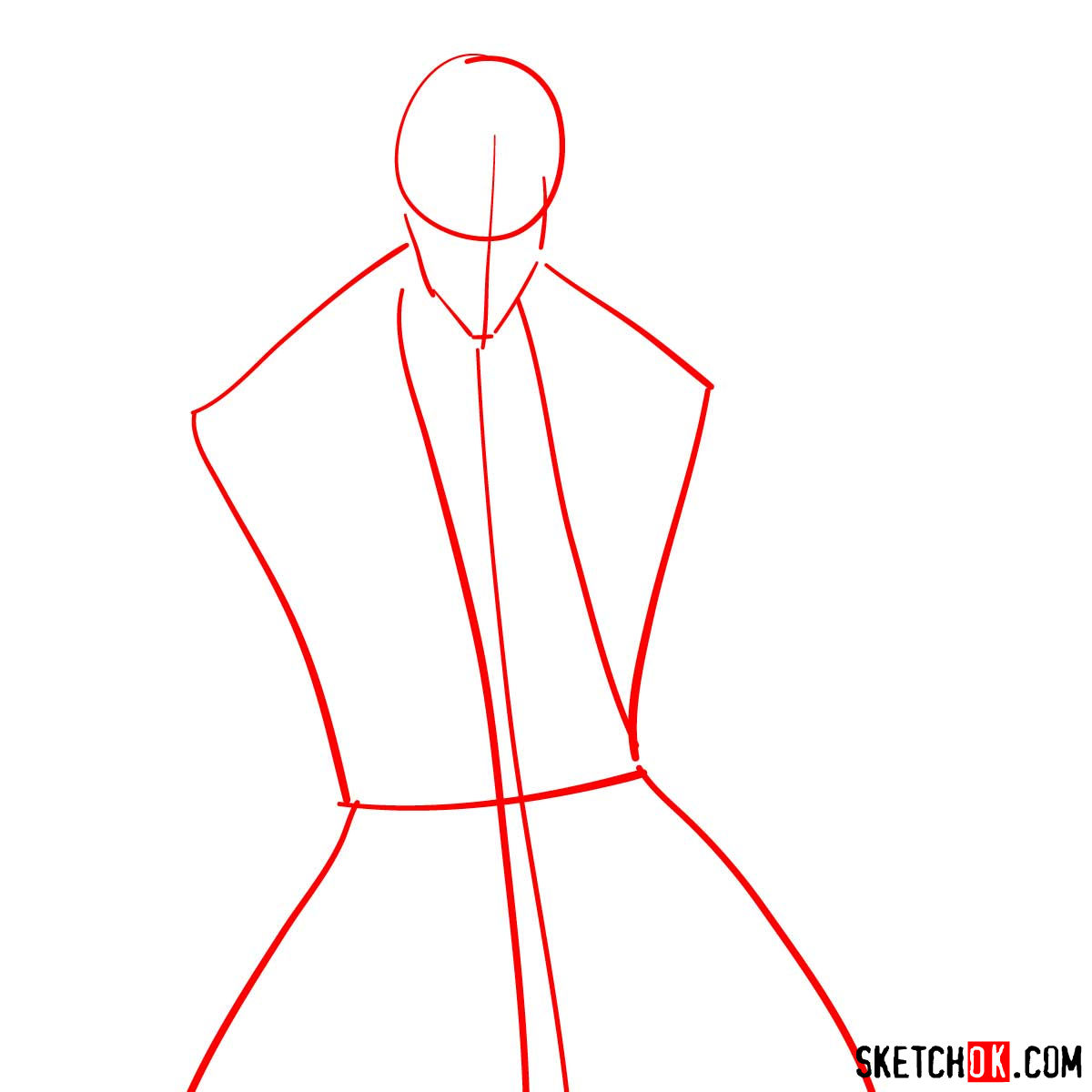 How to draw Shinomori Aoshi | Rurouni Kenshin - step 01