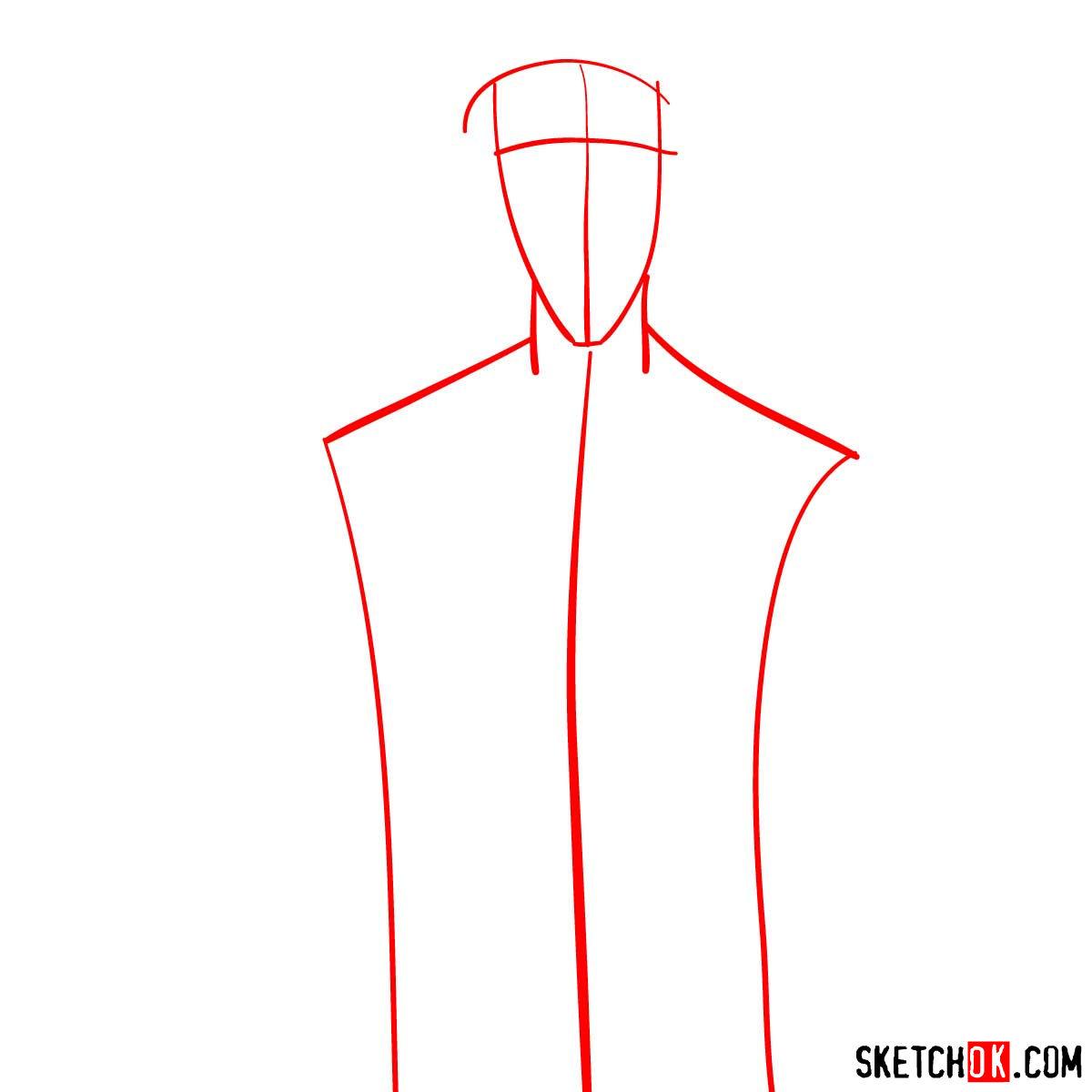 How to draw Saito Hajime   Rurouni Kenshin - step 01