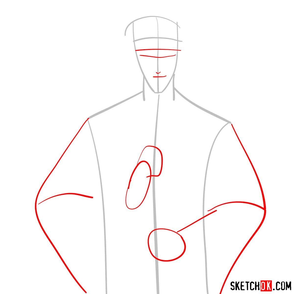 How to draw Saito Hajime | Rurouni Kenshin - step 02