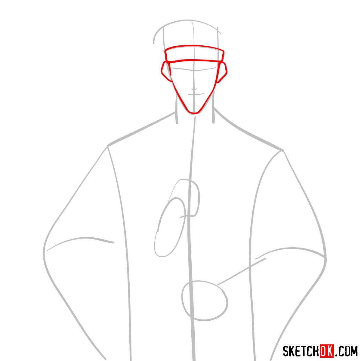 How to draw Saito Hajime   Rurouni Kenshin - step 03